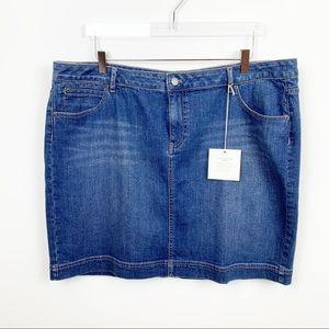 J. Jill | Vintage Denim MIni Skirt in Bluewash